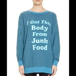Wildfox Sweatshirt blue xs